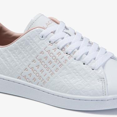Lacoste Carnaby Evo 120 3 Sfa Kadın Beyaz - Pudra Deri Sneaker