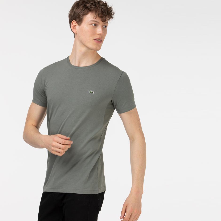 Lacoste Erkek Slim Fit Bisiklet Yaka Haki T-Shirt