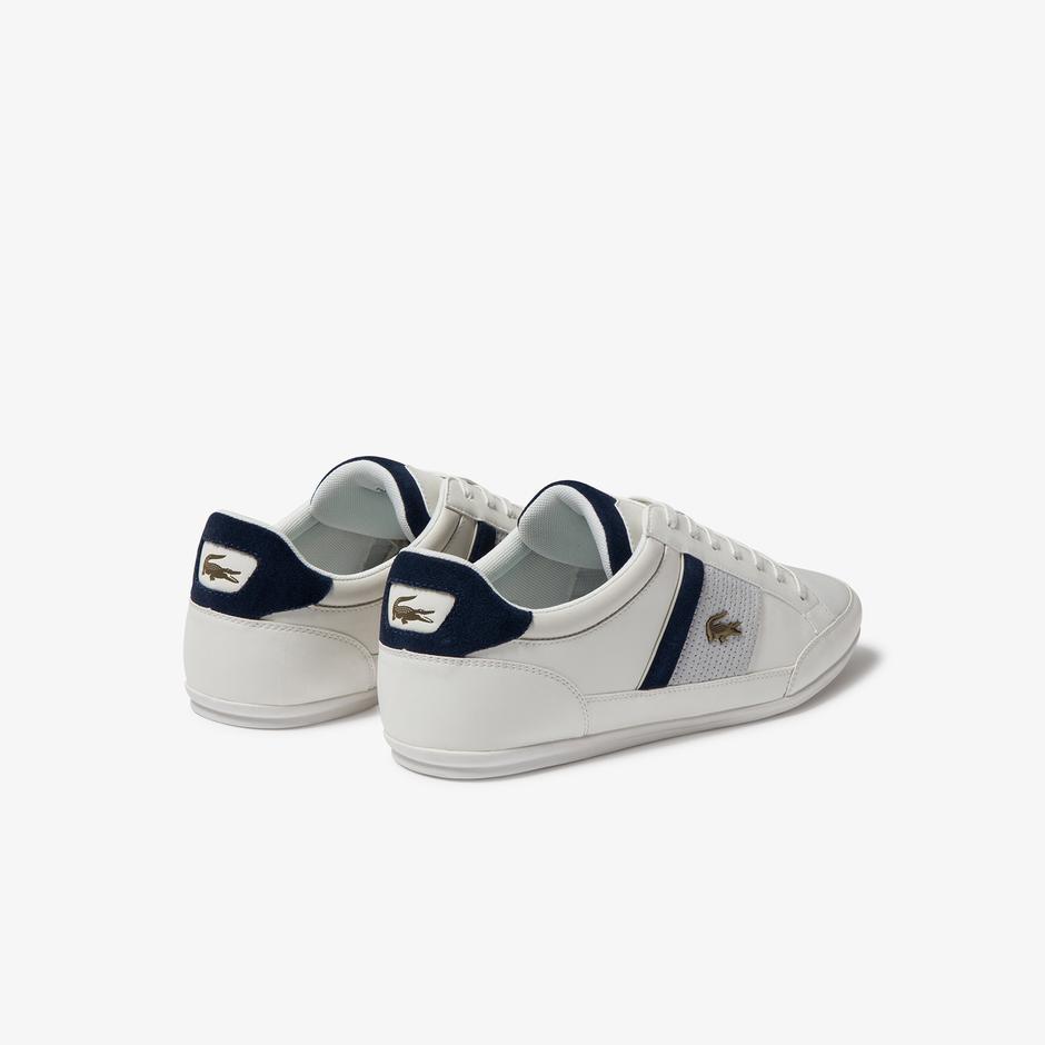 Lacoste Chaymon 120 4 Cma Erkek Beyaz - Lacivert Deri Casual Ayakkabı