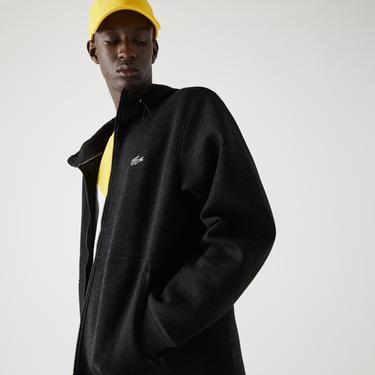 Lacoste Erkek Fermuarlı Kapüşonlu Koyu Gri Sweatshirt