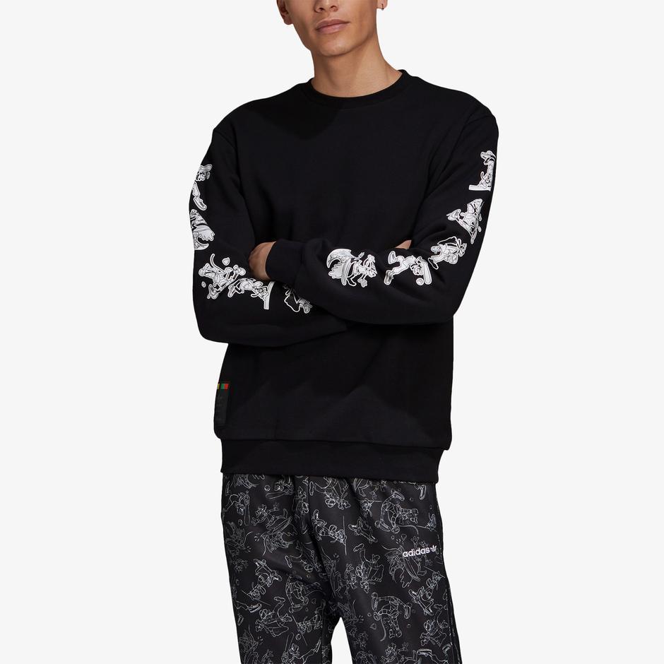 Goofy Crew Erkek Siyah Sweatshirt
